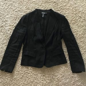 DKNY linen blazer